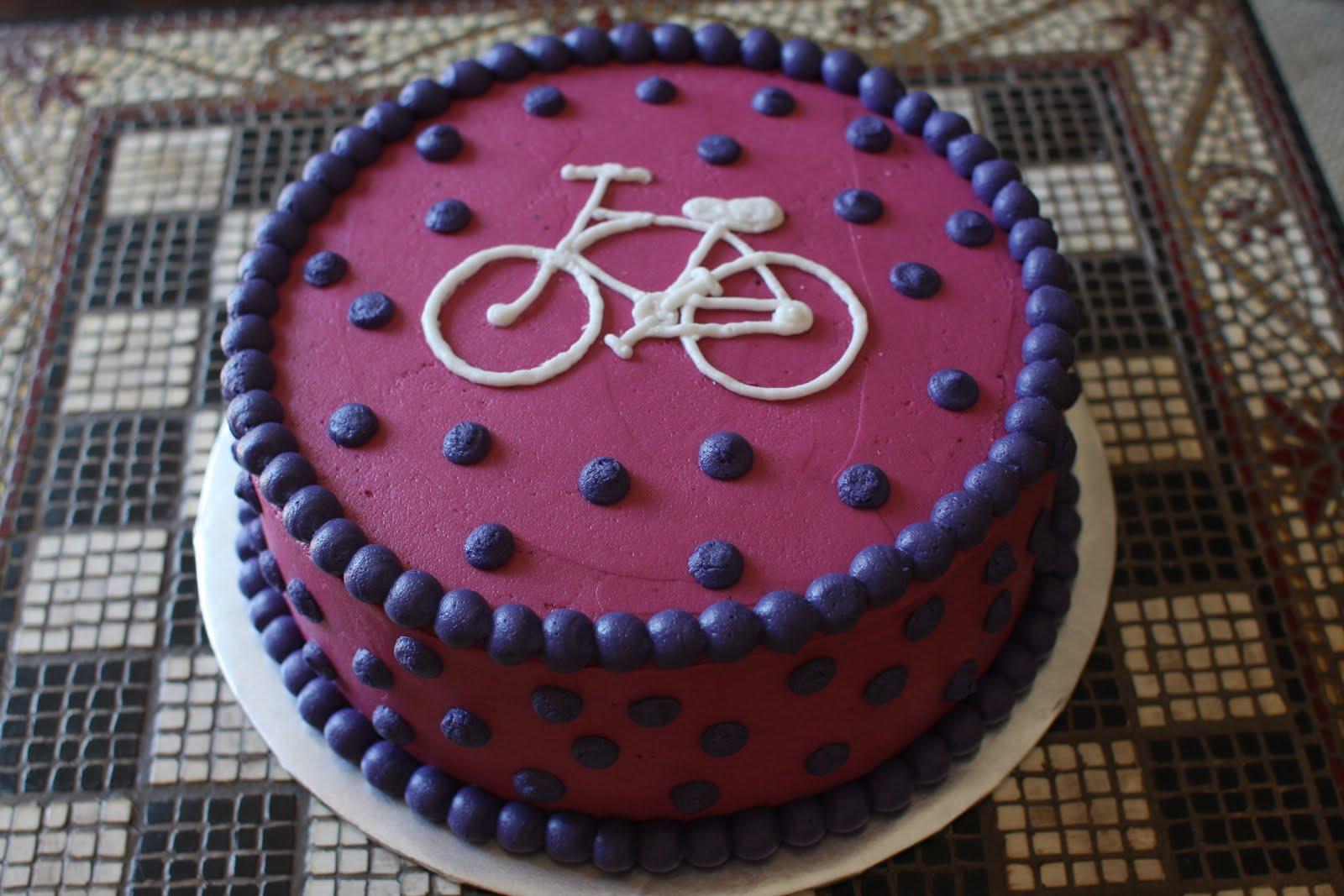 Bike With Training Wheels Birthday Cake