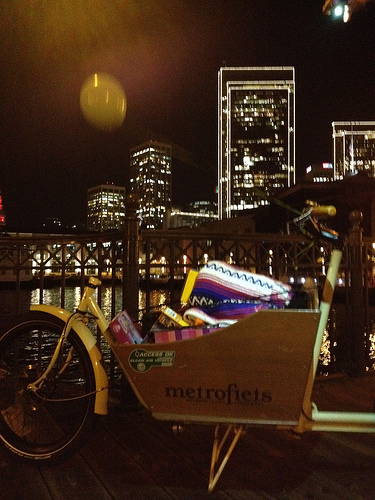 James carried so many toys in the Metrofiets.  Thanks, James! Photo by Calitexican