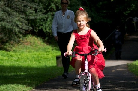 Cycling_Girl_Red_dress