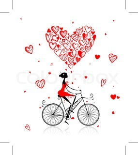 heart bubble bike