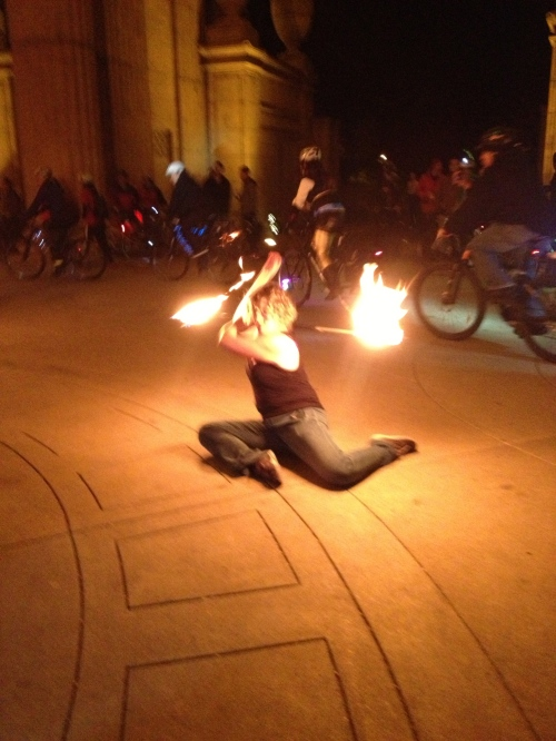 Fire Dancers light up the Palace