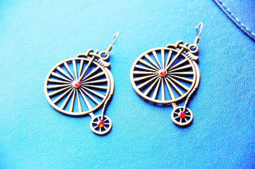 penny farthing earrings