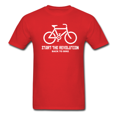 Red---BACK-TO-BIKE---T-Shirts-(Short-sleeve)