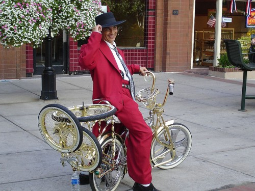 red zoot suit bike