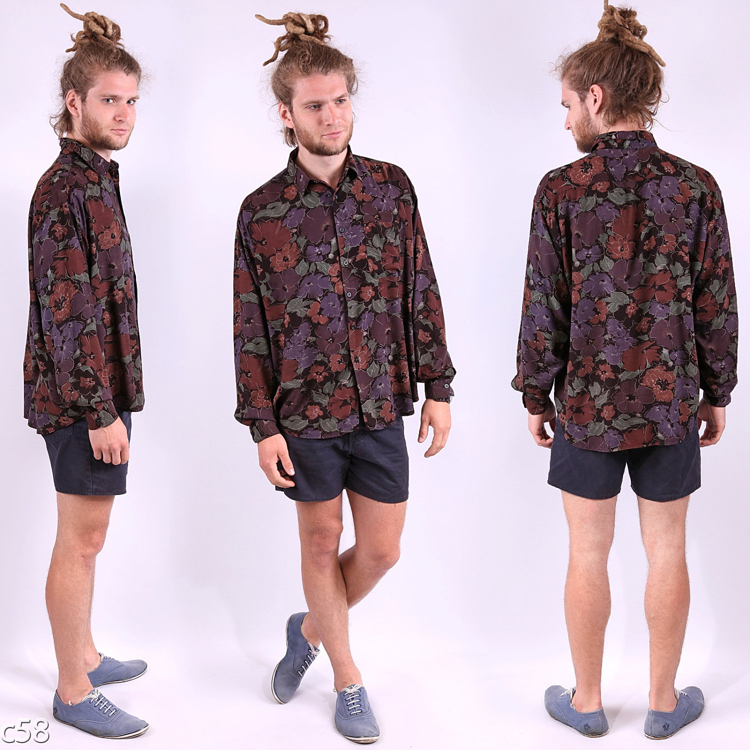 9f1166dbaaa dreds and floral shirt. Floral print