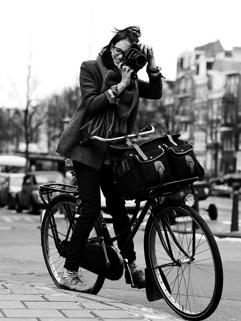 dutch bike and camera lady