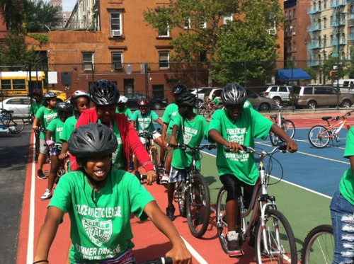 green shirt bike camp