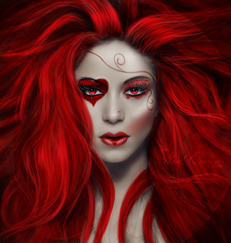 red queen with hair