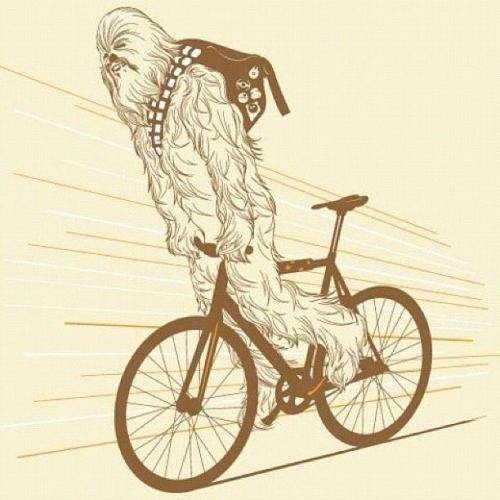 chewy on a bike