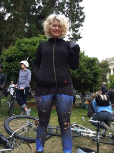 Sarah rocking some rad leggings! (foto by chinstrap)