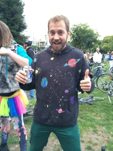 Great hand painted shirt! (foto by chinstrap)