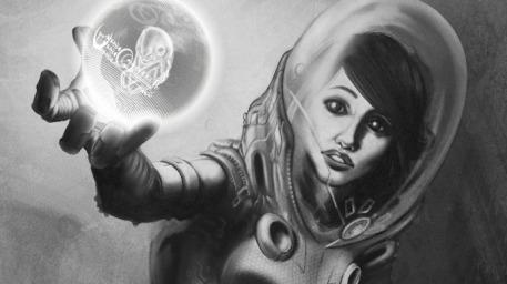 woman alien space suit