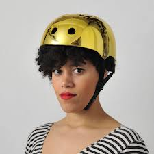 For those of you who like a very literal interpretation.  This is a gold helmet!