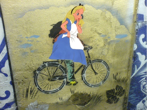 alice on bike