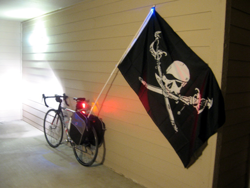 Pirate flag on bike