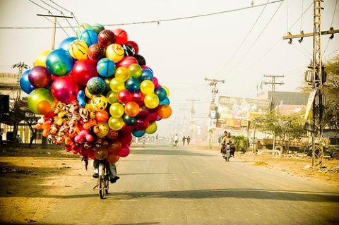 bike balloons